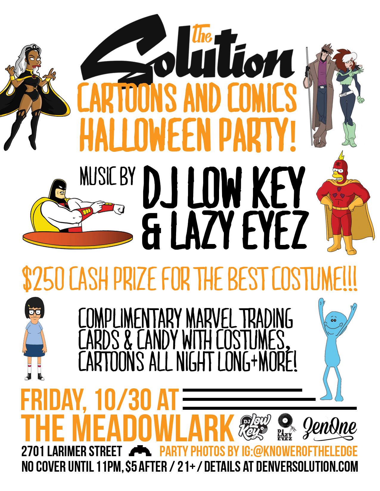 Friday, 10/30 -> Cartoons & Comics Halloween Party at The Solution ...